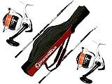 Evo Fishing - Kit de surfcasting, 2 Long Cast 4.20 200 g + 2 carretes Supreme CX...