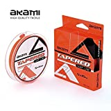 Akami Tapered Surf Line 0.20–0.62mm 5x 15mt Terminal Cónico Shock...