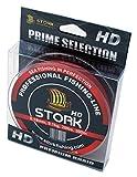 Stork HD, 4-hilo trenzado pesca 300m (Rojo, 40 lbs / 18.1 kg / 0.29 mm)