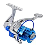 Lixada Carrete de Pesca Spinning 8BB Rodamientos de Bolas Intercambiable Mano...