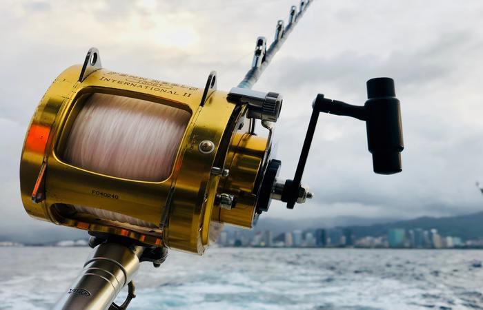 caña de pesca para barco