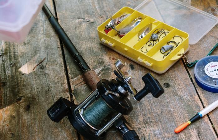 caña de pescar rio