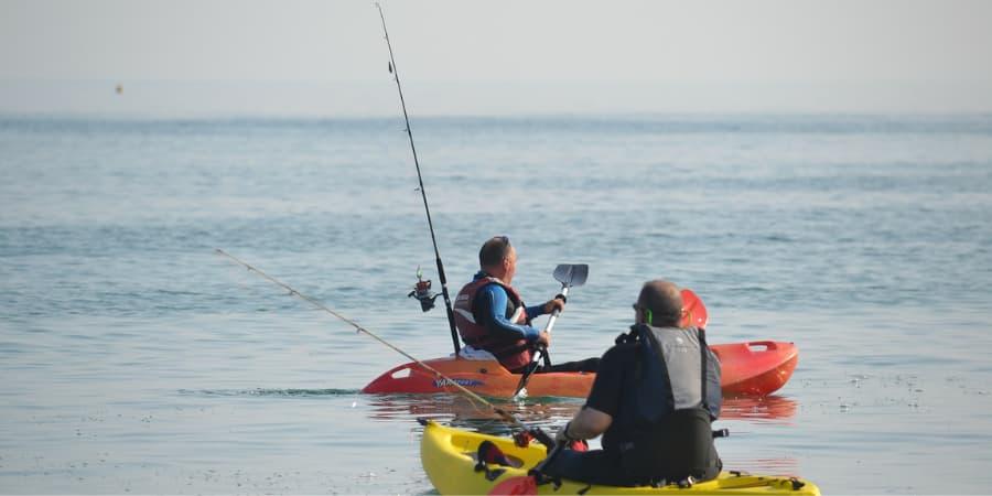 Pesca con Kayak en mar